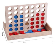 Connect 4 Wooden Games, Travel Board Game Foldable Line up 4 Toy For Fun Four in Row Kids Games With Family intelligence Basic Skills Development Toys …