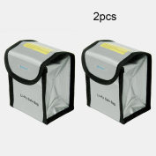 Noiposi 2pcs Battery Fireproof Explosionproof Charge & Storage Lipo Safe Bag for DJI Mavic Pro 100x75x115mm