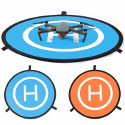 "New landing pad for RC drone size 30""(75cm) Quadcopter launch pad, Helicopter Mini helipad ,compatible for racing drone , DJI Mavic inspire 1 2 phantom 2 3 4 pro, Parrot, GoPro Karma, Fast-Fold"