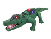 Crocodile Toy Battery Operated 41cm Alligator with Moving Jaws, Lights and Realistic Sound