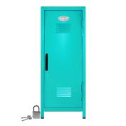 Mini Locker with Lock and Key Teal -27cm Tall