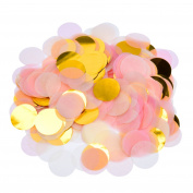 eBoot 5000 Pieces Paper Confetti 2.5cm Round Tissue Paper Table Confetti Dots for Wedding Party Decorations, Mixed Colours