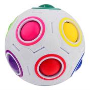 Emorefun Joe Children's 3D Intelligence Games Magic Rainbow Puzzle Ball Football Style Fidget Toys Speed Cube