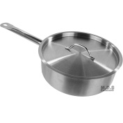 Saute Pan 3.8l Commercial Stainless Steel Tri-Ply Capsule Bottom