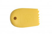 Mercer Culinary Silicone Plating Wedge, Graduated Saw Tooth, Yellow