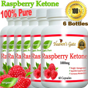 6 Raspberry Ketones 1000mg 100% Pure - 360 Capsules - All Natural Weight Loss Supplement, Max Strength Plus Appetite Suppressant Diet Pills, Premium Lean Health Extract to Boost Energy & Metabolism