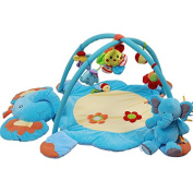 JYSPORT Baby Playmat Activity Gym Animal Paradise Plush Toy Activity Mat Crawling Pad Game Blanket