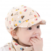 FALAIDUO Baby Hat And Scarf Set Boy Girl Kid Infant Hat Baseball Beret Cap