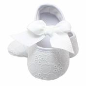Koly Newborn Baby Girls Soft Sole Bowknot Shoes Soft Bottom Flower Prewalker Sneakers