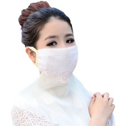 Summer Dustproof Sunscreen Breathable Chiffon Lace Women Foldable Riding Outdoor Sun Anti UV Protection Skin Care Neck Oversized Masks