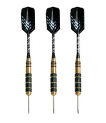 Steel Tip Darts (Set of 3) by Signature Sports - 23 Grammes | Competition Grade Anodized Aluminium Shafts, Steel Barrels and Tips | Ultra Durable Slim Flight Darts | Premium Custom Case | SureGrip Technology