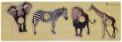 Doron Layeled Giant Peg Wooden Puzzle - Wild Animals