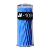 100pcs Disposable Eyelash Extension Swabs Applicators Individual Micro Brushes Eyelashes Mascara Wand Blue
