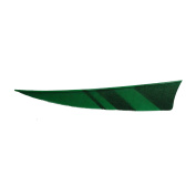 SAS 10cm Shield RW Feathers Black Horn Colour Archery Arrow Fletching - 1DZ