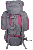 Mountain Warehouse Tor 65L Rucksack - Ladderlock Back, Padded Air Mesh with Load Balance Adjusters, Multiple Pockets & Compartments - Great for travelling