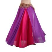 Seawhisper Belly Dance Chiffon Side Slit Maxi Skirt