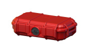 Seahorse Protective Equipment Cases Watertight, Keyed Plastic Lock Camera Case, Red