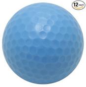 Coloured Golf Balls, (Pack of 12 Balls) Plain, NON-Printed