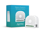 Aeotec Nano Switch on / off controller with power metering, Z-Wave Plus, In-wall, works with Alexa