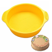 Mchoice 23cm DlY Round Cake Pan Shape 3D Silicone Cake Mould Baking Tools Bakeware Maker Tray