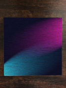 Blue and Pink Spotlight Design on Textured Background One Piece Premium Ceramic Tile Coaster 11cm x 11cm Square Drink Protection for Coffee Tables by Moonlight Printing