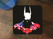 Bat Man Hero Silhouette Image Design Print Pattern Silicone Drink Beverage Coaster 4 Pack by Trendy Accessories