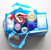 Travel Outdoor Portable Baby Nappy Nappy Storage Insert Organiser Bag Tote,Blue