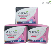 3packs VLOVE Day Use Anion Nano Silver Far-infrared Sanitary Napkin