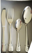 16 Piece Silver Heart Cutlery Set Forks by Dylex