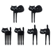 Direct Store Cute Mini Fruit Forks Food Picks Kitten Fruit Decoration