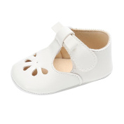 CHshe Toddler Baby Girl Summer Hollow Sandals Newborn Princess Soft Sole Anti-slip Bowknot Leather Crib Shoes