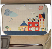 tokkids – Tendon Side Sunshade for Car, Blocks 99% of the Solar Rays, Protects the Eyes and the skin of children, Adjustable Size, 70 * 50 CM Drawing Case Carine