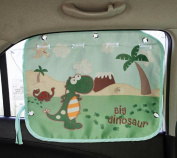 tokkids – Tendon Side Sunshade for Car, Blocks 99% of the Solar Rays, Protects the Eyes and the skin of children, Adjustable Size, 70 * 50 CM Drawing Dinosaur