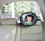 BabyDan Adjustable Wide Angled Rear Seat Mirror, Large
