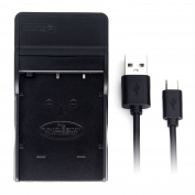 D-Li8 Ultra Slim USB Charger for Pentax Optio A10, Optio A20, Optio A30, Optio S4i, Optio S5i, Optio S7, Optio SV Camera Battery and More