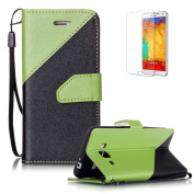 For Samsung Galaxy J3 (2016 Model) J310 Case [with Free Screen Protector},Funyye Stylish Premium Flip Magnetic Detachable PU Leather Wallet with Credit Card Holder Slots Smart Standing Folio Book Style Ultra Thin different colour splicing Protective Ca ..