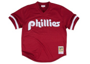 MLB Mitchell & Ness Philadelphia Phillies Lenny Dykstra 1991 Cooperstown Collection Authentic Practise Jersey - Maroon