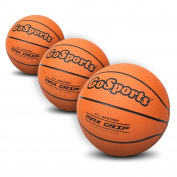 GoSports 18cm Mini Basketball 3 Pack with Premium Pump - Perfect for Mini Hoops or Training