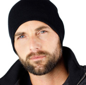23cm Black Skull Cap Beanie That Will Fit Your Head Perfect