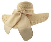 HugeStore Floppy Wide Brim Bowknot Chic Sun Hat Summer Beach Hat Cap Cloche Hat for Women Ladies