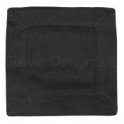 """12 Pack - CleverDelights Black Cocktail Napkins - 100% Cotton Canvas - 6"""" x 6"""" - Heavyweight Coasters"""