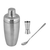 Kosma Premium Stainless Steel Cocktail Shaker Set –Bar Tools Set with Cocktail Shaker 600ml, Peg Measurer 30x 60ml, Mixing Spoon 20cm