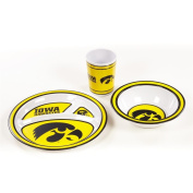NCAA Iowa Hawkeyes Kid's 3-Piece Dish Set
