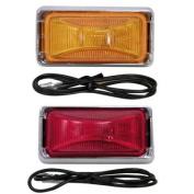 AMRA-E150KR.1 * Anderson Boat Trailer Side Marker Light Kit-Red Lens