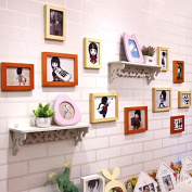 NAUY- Solid Wood Frame Wall Shelf Photo Wall Office Decoration Photo Wall DIY Wild Living Room Dining Room Bedroom Frame Wall