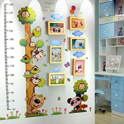 NAUY- 6 Box Kindergarten Wall Decoration Solid Wood Photo Wall Children Creative Group Frame Wall Simple Modern Height Stickers DIY Wild Living Room Dining Room Bedroom Frame Wall