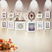 NAUY- 10 Box White European Style Smart Fashion Wall Stickers Combination Frame Creative Personality Wedding Photo Wall DIY Wild Living Room Dining Room Bedroom Frame Wall