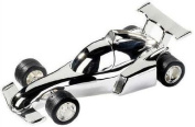 Silver Plated F1 Racing Car Money Box - Ideal Christening Gift