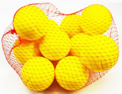 10 Foam Tennis Ball 70mm Yellow Indoor Outdoor Football Soccer Fun Sport Soft Toy Play for Kids Kick Catch Game