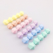 Mamimami Home Baby Teether 50pc Silicone Multi-faceted beads Candy Colour 14mm DIY Nursing Bracelet Baby Accessories Food Grade Baby Teether Toys